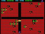 Fruity Frank MSX Use the apples to drop them on your enemies.
