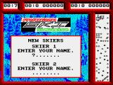 Professional Ski Simulator ZX Spectrum Two skiers rae always present, one can be computerised