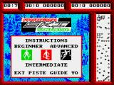 Professional Ski Simulator ZX Spectrum Instructions scroll past