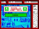 Professional Ski Simulator ZX Spectrum The countdown