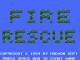 Fire Rescue MSX Title screen