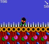 Zool Game Gear Zool doesn't like the spikes