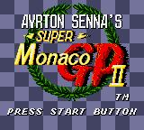 Ayrton Senna's Super Monaco GP II Game Gear Title screen
