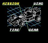 Ayrton Senna's Super Monaco GP II Game Gear Customising your car