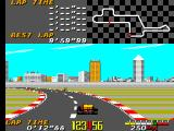 Ayrton Senna's Super Monaco GP II SEGA Master System Driving around on course 1