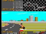 Ayrton Senna's Super Monaco GP II SEGA Master System Colliding on course 1