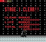 Batman Returns Game Gear Stage 1 clear