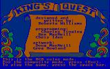 King's Quest PC Booter Title screen (CGA with RGB monitor)