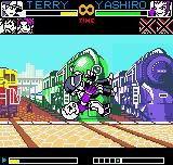 King of Fighters R-2 Neo Geo Pocket Color Now the action goes to Orochi Yashiro, that grabs Terry using his throwing move called Odoru Daichi.