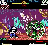 "King of Fighters R-2 Neo Geo Pocket Color Due a menace called ""Rugal's Gravity Smash"", Kasumi Todo immediately assumes her defensive position."