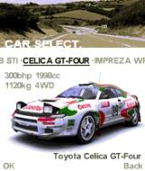 Colin McRae Rally 2005 N-Gage Car select screen