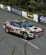 Colin McRae Rally 2005 N-Gage Nice skidmarks at the finish