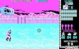 Operation Wolf DOS game in progress - CGA