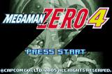 Mega Man Zero 4 Game Boy Advance Title screen