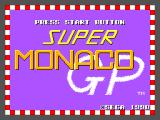 Super Monaco GP SEGA Master System Title screen