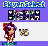 SNK Gals Fighters Neo Geo Pocket Color Selecting your favorite nice cute female fighter.