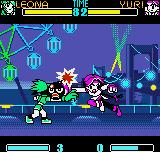 SNK Gals Fighters Neo Geo Pocket Color A powerful clashing move encounter envolving Leona's Earring (?) Bomb and Yuri's Chou Knuckle.