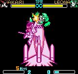 SNK Gals Fighters Neo Geo Pocket Color Without time to escape, Leona goes to heights in the boosted rocket of Akari's DM Sextet Synthesis.