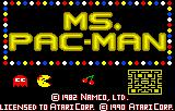 Ms. Pac-Man Lynx Title screen