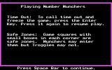 Number Munchers DOS Instructions