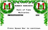 Number Munchers DOS Hall of Fame