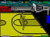 Magic Johnson's Fast Break ZX Spectrum Heading for the hoop