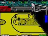 Magic Johnson's Fast Break ZX Spectrum Back in play after a score