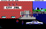 Police Quest: In Pursuit of the Death Angel DOS Visiting the city jail (EGA/Tandy/MCGA)