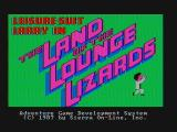 Leisure Suit Larry in the Land of the Lounge Lizards DOS Title screen (CGA with composite monitor)