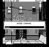 Leisure Suit Larry in the Land of the Lounge Lizards DOS In the Hercules version, typing opens up a dialog box (Hercules Monochrome)