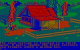 King's Quest II: Romancing the Throne PC Booter I wonder who lives in this cozy little cottage? (CGA with RGB monitor)