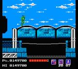 "Teenage Mutant Ninja Turtles NES Throwing a ""Rope"" over these buildings will get you through"