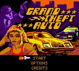 Grand Theft Auto Game Boy Color Title screen.