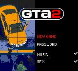 Grand Theft Auto 2 Game Boy Color Title screen / Main menu.