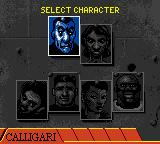 Grand Theft Auto 2 Game Boy Color Choosing a character.