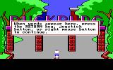 Donald Duck's Playground PC Booter Introduction into a game's control