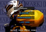 Formula One Genesis Main menu