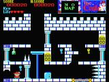 The Castle MSX Use the objects in the room to reach the upper platforms.