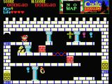 Castlequest MSX How can you reach the purple and the blue key?