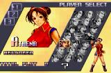 The King of Fighters EX2: Howling Blood Game Boy Advance Selecting a team.