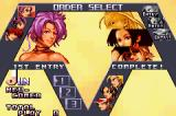 The King of Fighters EX2: Howling Blood Game Boy Advance Order selection.