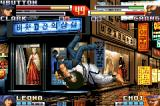 The King of Fighters EX2: Howling Blood Game Boy Advance Grabbing Chang with aggressiveness, Clark is almost finishing his SDM Ultra Argentine Back Breaker!
