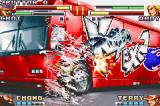 The King of Fighters EX2: Howling Blood Game Boy Advance During his DM Super Tornado Vacuum Slice, Choi attacks the opponent with a 3-hit walking whirlwind.