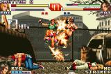 The King of Fighters EX2: Howling Blood Game Boy Advance Fatal Fury Team status: two defeated members and Mai damaged by Moe's SDM Cherry Blossom Storm...