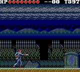 Vampire: Master of Darkness Game Gear All alone on the cemetary, armed only with a knife