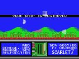 Scarlet 7: The Mightiest Women MSX Game Over.