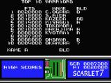 Scarlet 7: The Mightiest Women MSX High score list.