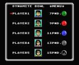 Dynamite Bowl MSX Select a character to play.