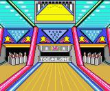 Dynamite Bowl MSX Preparing the lane and positioning the pins.