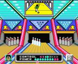 Dynamite Bowl MSX You can adjust your position on the lane.